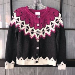 Hanna Andersson button front cardigan sweater
